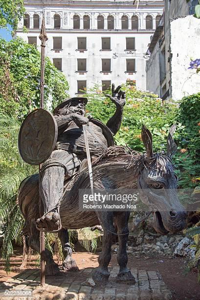 Old Havana Cuba Sancho Panza sculpture Sancho Panza is the pragmatic faithful squire of Don Quixote ld Havana is a Unesco World Heritage Site and...