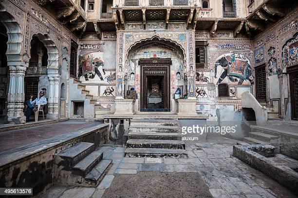 velho haveli mandawa rajasthan índia. - rajastão imagens e fotografias de stock