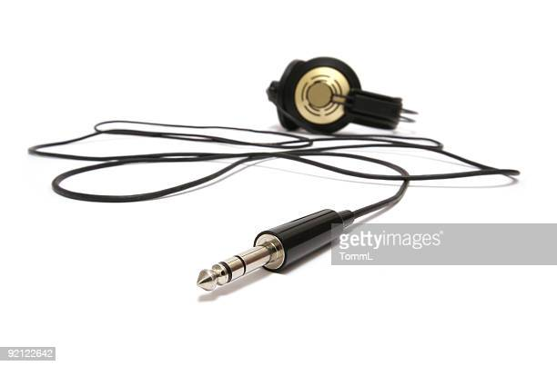 old headphone with cabel and connector