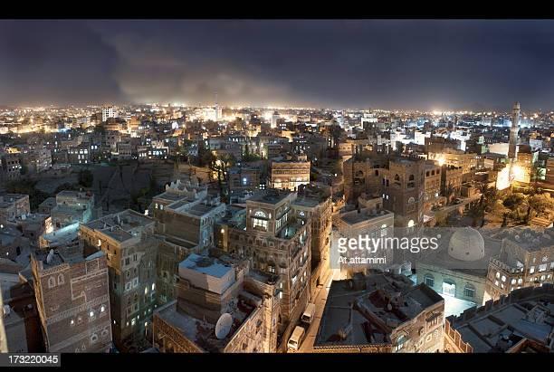 old heritage of bab al yemen - yemen stock pictures, royalty-free photos & images