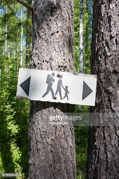 Old Hiking Route Sign, Finland