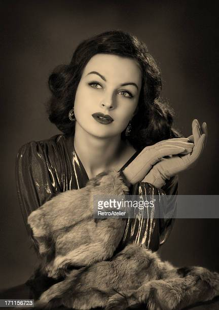 old hollywood.beauty in film noir style. - actor stockfoto's en -beelden