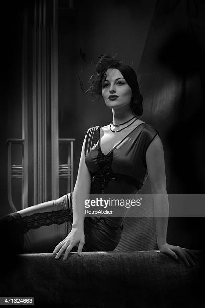 Old Hollywood.Glamour Beauty in Film Noir Style.
