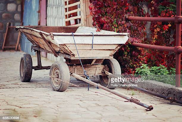Old horse Cart at the farm