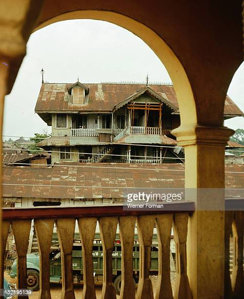 Old house built by a successful merchant in Calabar a trading town in the Niger Delta that was a principal centre for African middlemen in the slave...