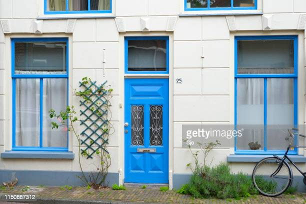 Old house facade in the city of Zwolle, Netherlands