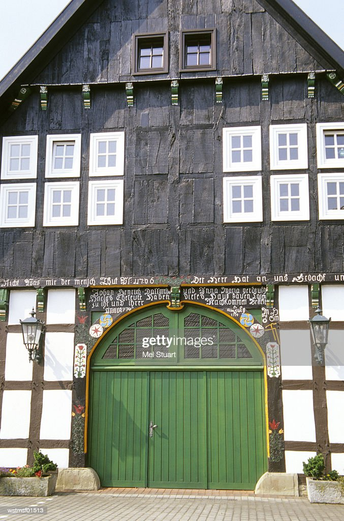 Old house front in Bissendorf, Osnabruecker country, Germany : Stock Photo