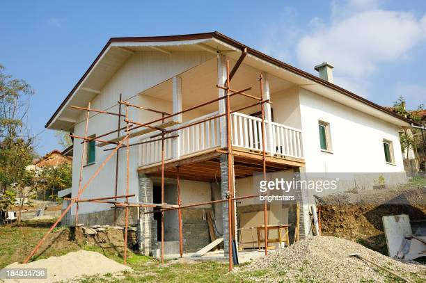 old house restoration in a village - restoring stock pictures, royalty-free photos & images
