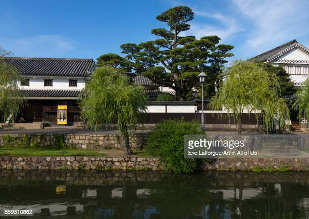 Old houses along the riverbank in Bikan historical quarter Okayama Prefecture Kurashiki Japan on August 25 2017 in Kurashiki Japan