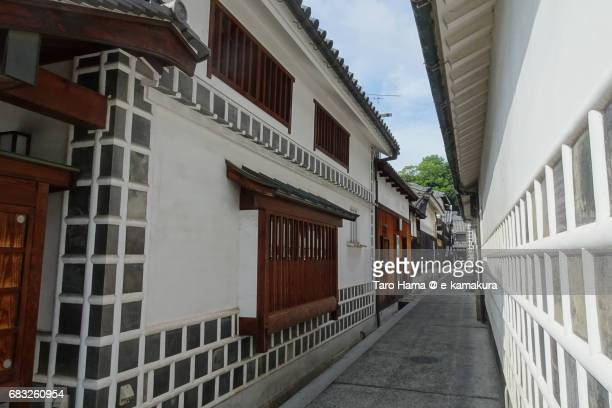 Old houses and street in Kurashiki Bikan Historical Quarter