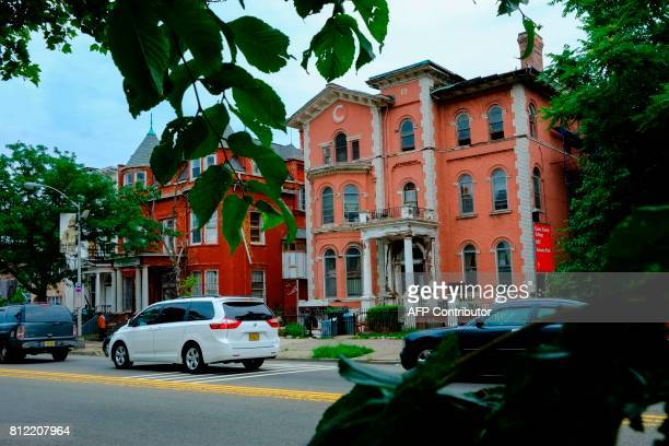 Old houses are seen on a local street in Newark New Jersey on June 6 a half century after the 1967 riots / AFP PHOTO / EDUARDO MUNOZ ALVAREZ