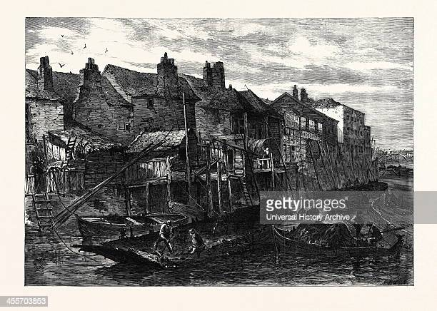 Old Houses At Lambeth Demolished For The Southern Embankment Of The Thames London Uk 1867