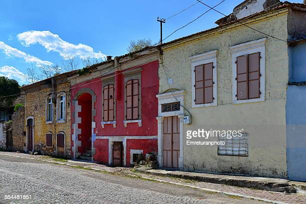 old houses in bergama - emreturanphoto stock pictures, royalty-free photos & images