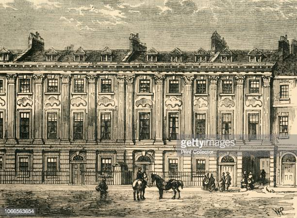 Old Houses in Great Queen Street South Side 1850' Neoclassical terrace in Holborn London Famous residents include painter John Opie and playwright...