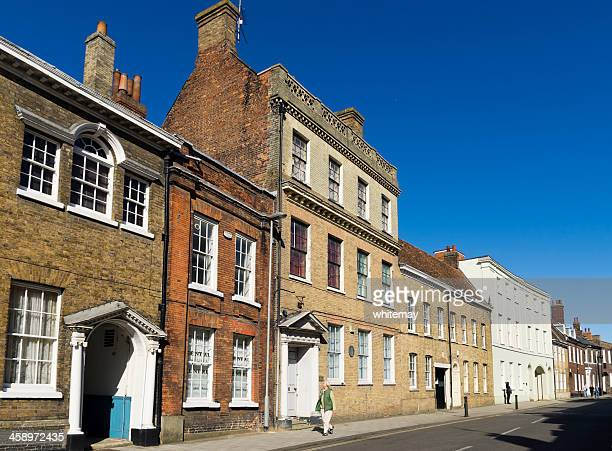 old houses in king street, king's lynn - king's lynn stock pictures, royalty-free photos & images