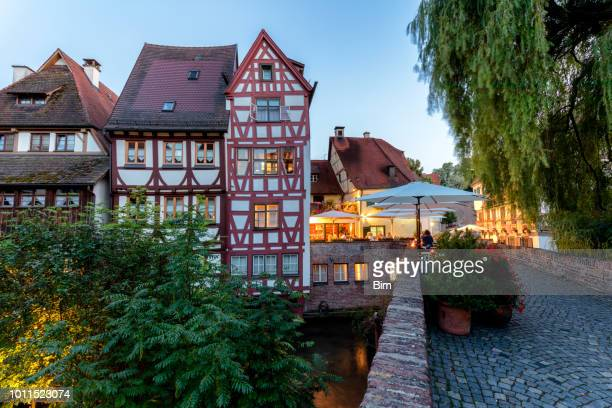 old houses in the famous fishing district, ulm, germany - ulm stock pictures, royalty-free photos & images
