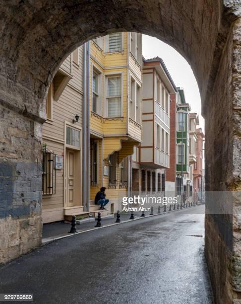 Old Houses in Vezneciler neighborhood ,Fatih District of Istanbul,Turkey