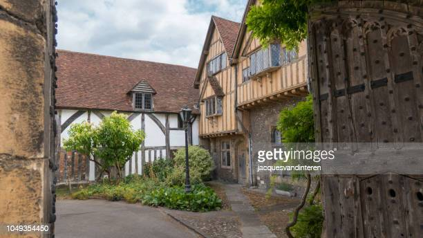 old houses in winchester, england (united kingdom) - winchester hampshire stock photos and pictures