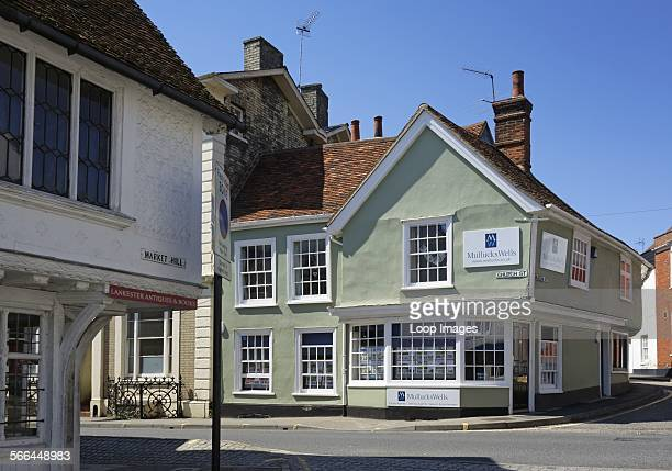Old houses on Church Street in Saffron Walden