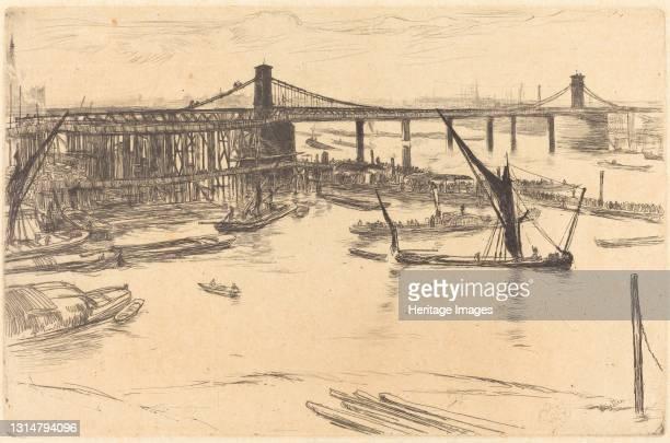 Old Hungerford Bridge, 1861. Artist James Abbott McNeill Whistler.