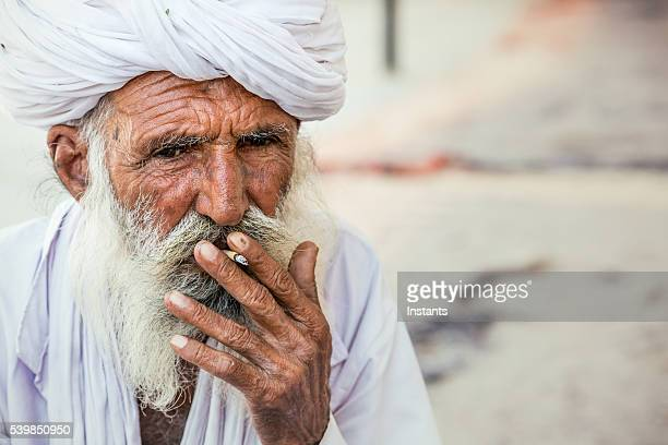 Old Indian man portrait