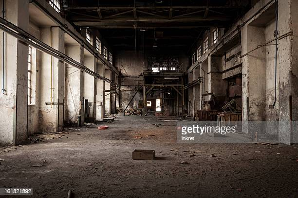 old industrial building - abandoned stock pictures, royalty-free photos & images