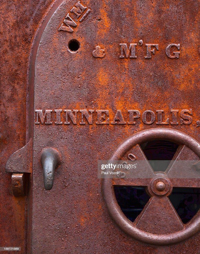 Old Industrial Furnace Door  Stock Photo & Old Industrial Furnace Door Stock Photo   Getty Images