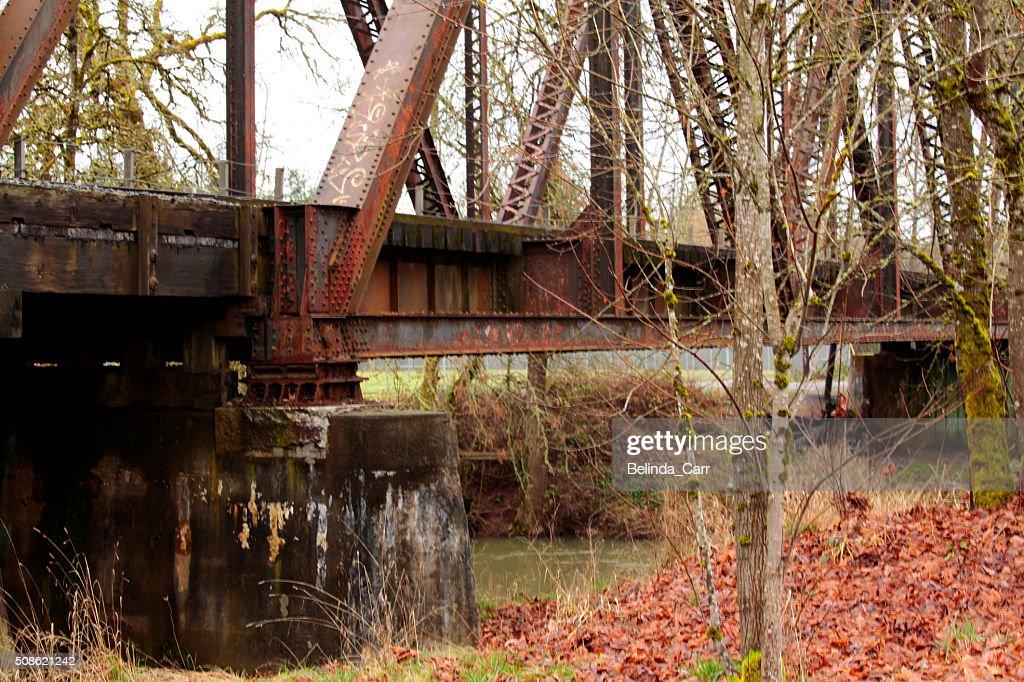 Old Iron Train Trestle : Stock Photo
