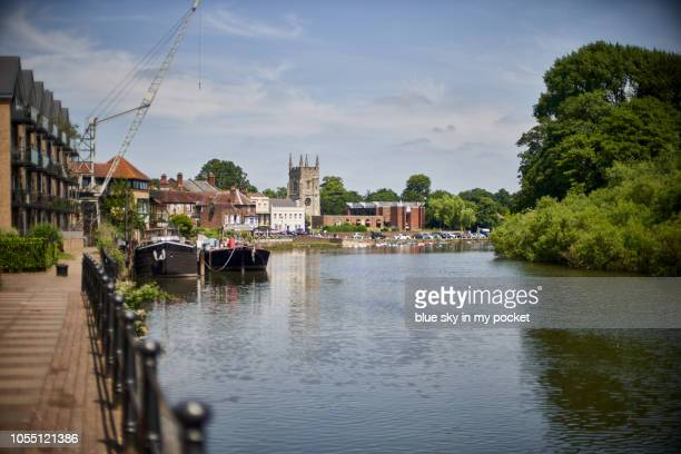Old Isleworth on the River Thames London, UK in summer.