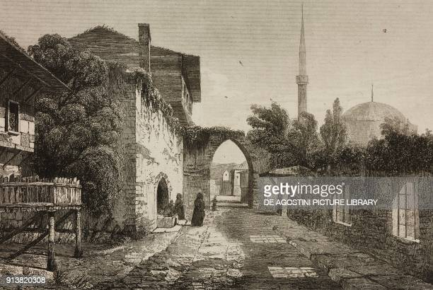 Old Istanbul Turkey engraving by Lemaitre Vormser and Lepetit from Turquie by Joseph Marie Jouannin and Jules Van Gaver L'Univers pittoresque Europe...