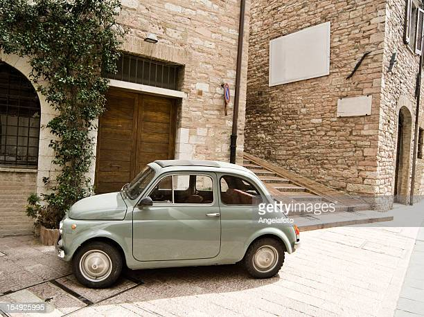 old italian car 500 - compact car stock photos and pictures