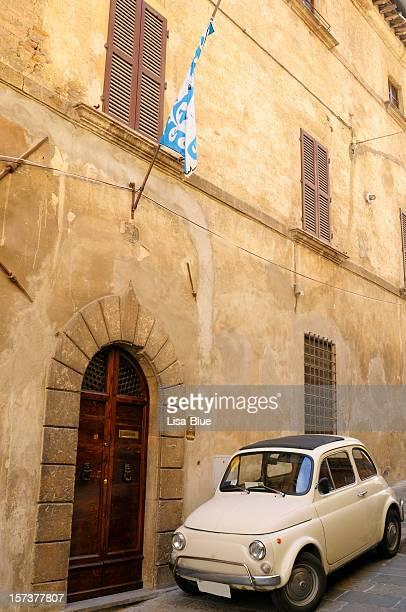 Old Italian Car Fiat 500 Urban Scene