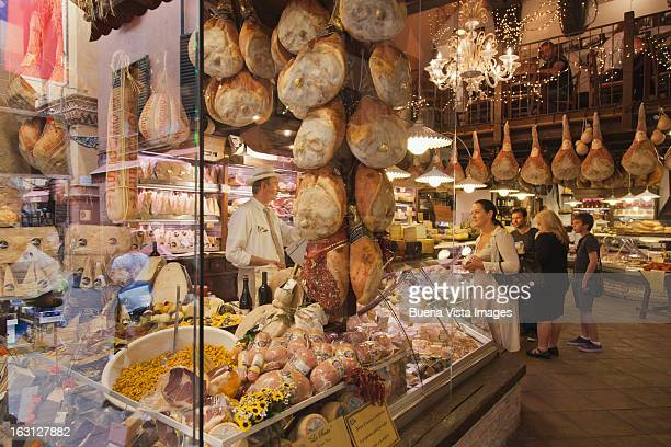 old italian market in bologna. - bologna stock pictures, royalty-free photos & images
