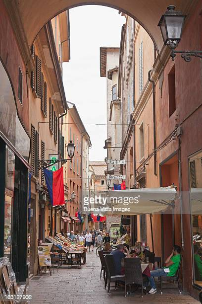 Old Italian market in Bologna.