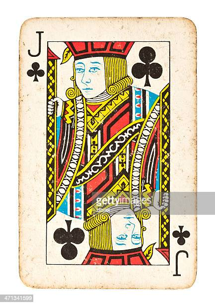 Old Jack of Clubs, isoliert auf weiss