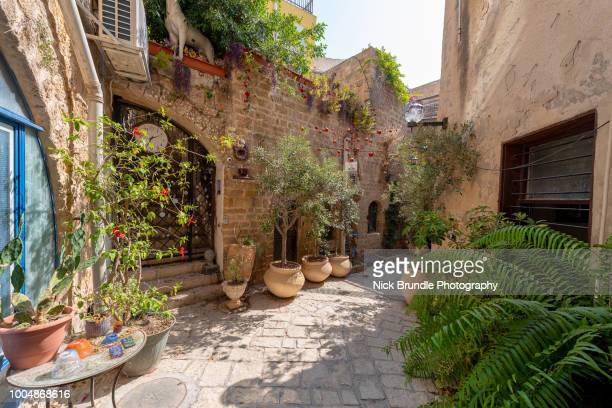 old jaffa streets, tel aviv, israel - tel aviv stock pictures, royalty-free photos & images
