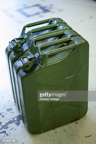Old jerrican containers