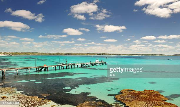 old jetty, kangaroo island, australia (xxxl) - south australia stock pictures, royalty-free photos & images