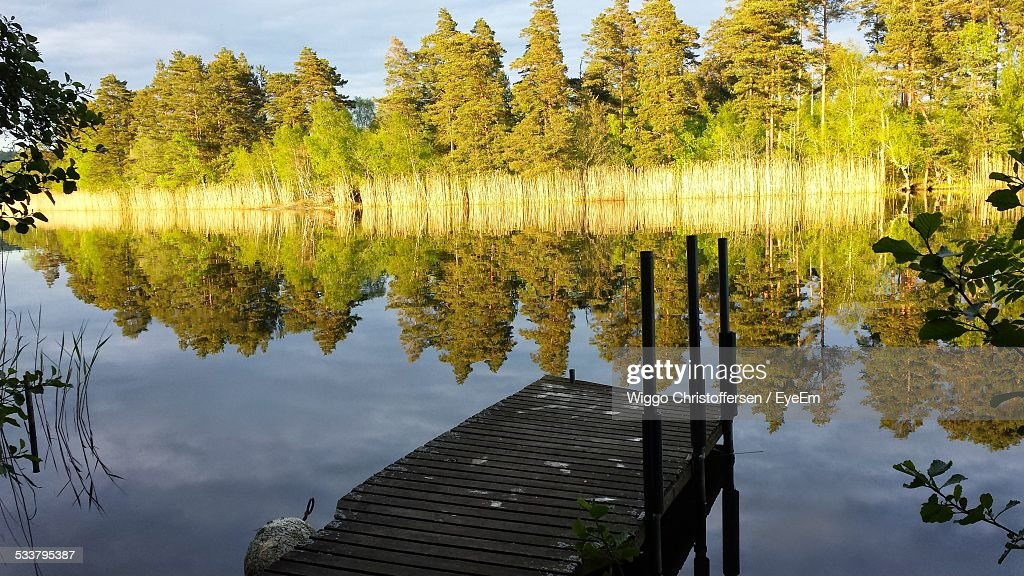 Old Jetty On Lake : Foto stock