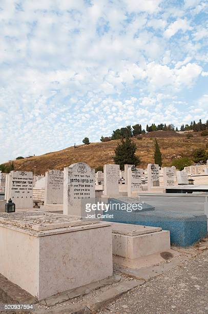 old jewish cemetery in safed, israel - safed stock photos and pictures