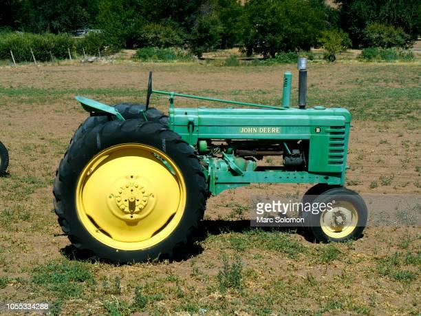Old John Deere tractor in field, La Verkin Utah
