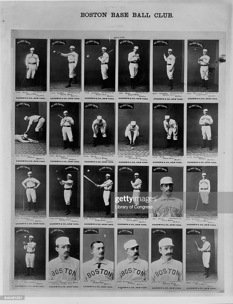 Old Judge Cigarette Baseball Cards Featuring The 1887 Boston