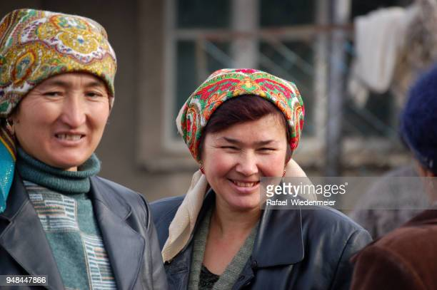old kazakh women - kazakhstan stock pictures, royalty-free photos & images