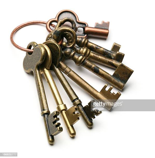 old keys - key ring stock photos and pictures