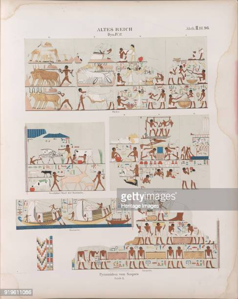 Old Kingdom Fourth Dynasty Pyramids at Saqqara Monuments from Egypt and Ethiopia ca 1849 Private Collection