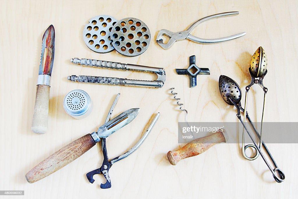 Old kitchen goods : Stock Photo