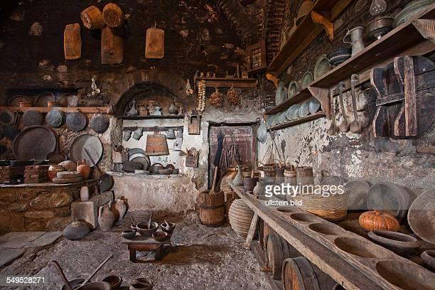 Old kitchen in Metamorphosis monastery - one of the Meteor5a monasteries in Greece