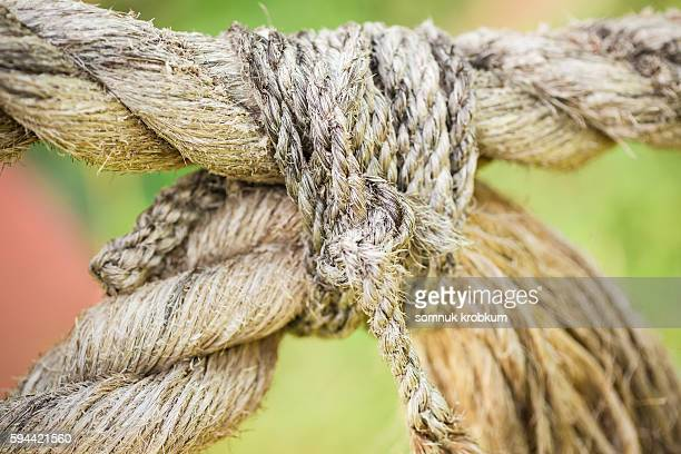Old knot rope