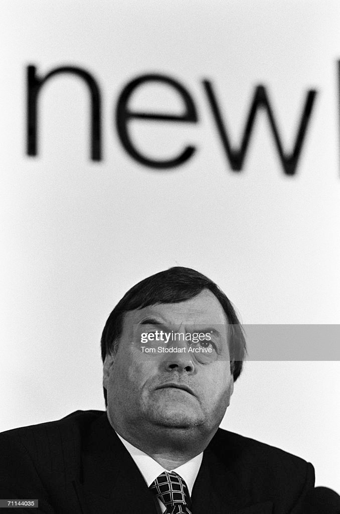 'Old Labour' stalwart John Prescott with a New Labour message during Tony Blair's successful 1997 General Election campaign to become Britain's first Labour Prime Minister since 1979.