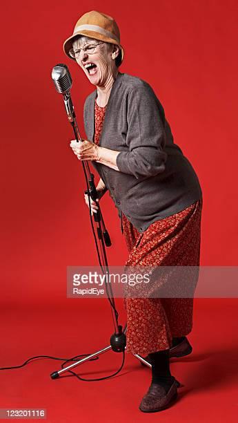 Old lady ベルトアウト歌をマイクロフォン用マイクロフォンホルダ